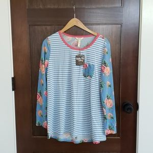 Matilda Jane Me Time Pajama Top sz Medium NWT